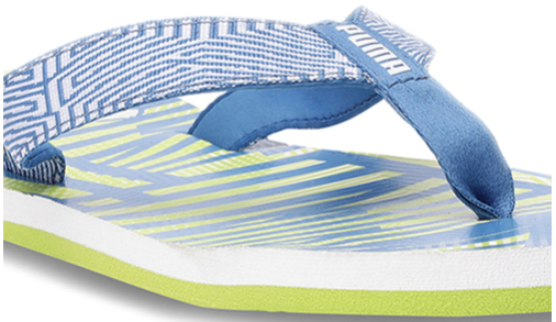 Puma Flipper IDP Blue & Lime Green Flip Flops