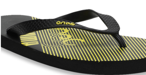 Puma One8 FF II IDP Black & Yellow Flip Flops
