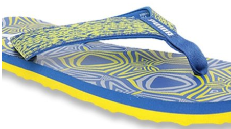 Puma Carb IDP Royal Blue & Blazing Yellow Flip Flops