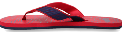 Puma Monk GU 2 IDP Blue & Red Flip Flops