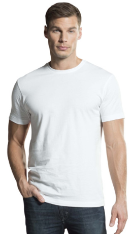 Jockey White Regular Fit Cotton T-Shirt - MC06
