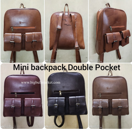 Mini Backpack Double Pocket
