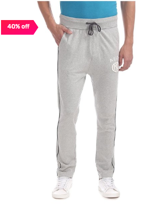 Aeropostale Light Grey Cotton Trackpants