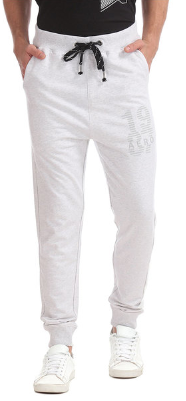 Aeropostale Grey Textured Joggers