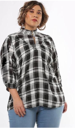 Black checked dress casual wear regular fit