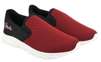Panelled Slip-On Sports Shoes