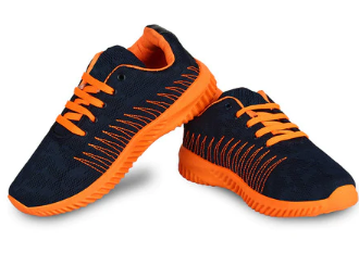Textured Lace-Up Running Shoes