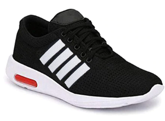Round-Toe Lace-Up Sports Shoes