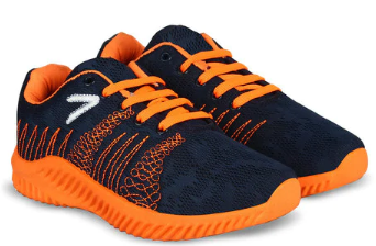 Embroidered Lace-Up Sports Shoes