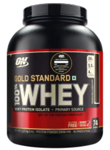 ON (Optimum Nutrition) Gold Standard 100% Whey Protein, 5 lb, Double Rich Chocolate