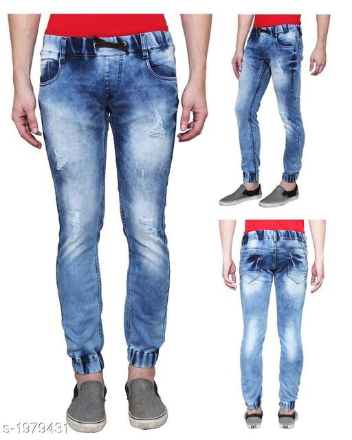 Stone wash denim men's trendy