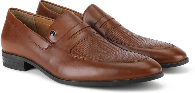 Louis Philippe Brown Formal Loafers