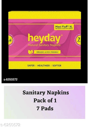 6 Heyday Natural & Organic Ultra Thin Sanitary Napkins (7 Pads)