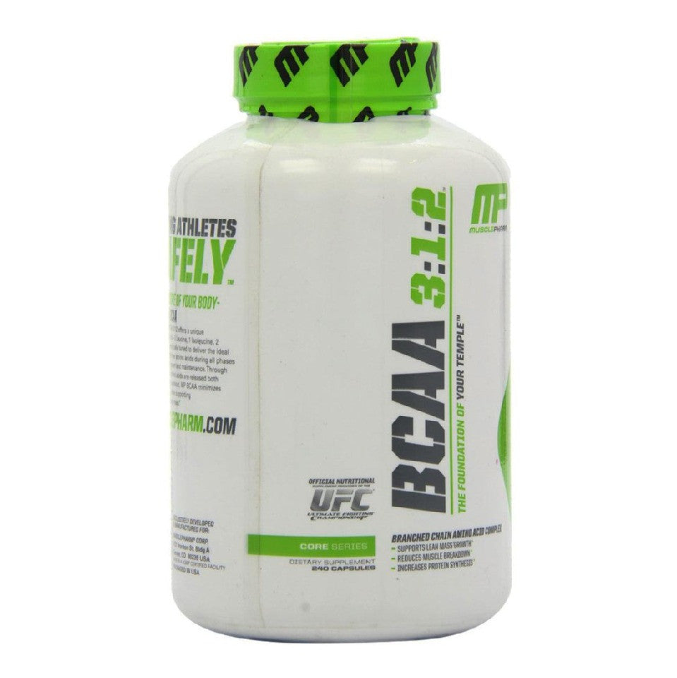 MusclePharm BCAA, 240 capsules Unflavoured