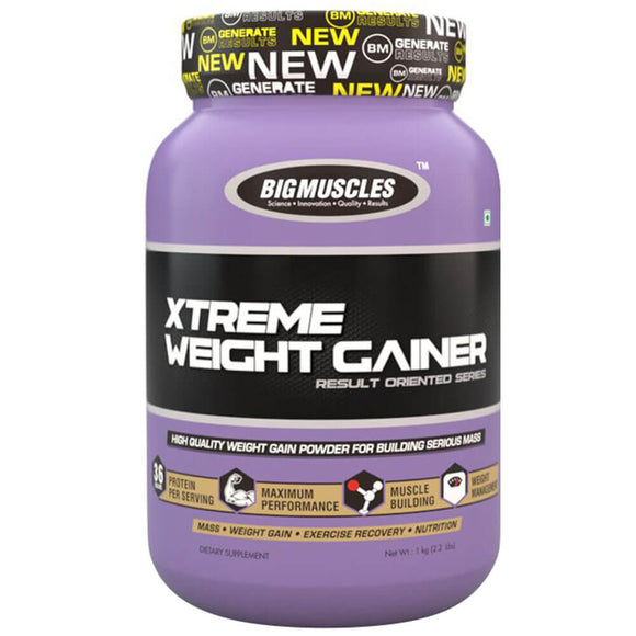 Big Muscles Xtreme Weight Gainer 2.2 lb,Malt Chocolate