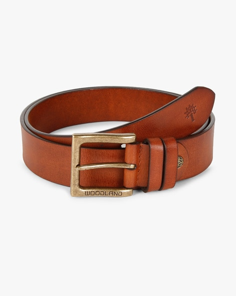 Classic Tan Brown leather belt for men
