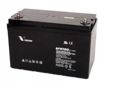 Deep Cycle 100Ah 12V Battery for Mecer BBONE-012S+,- Avico