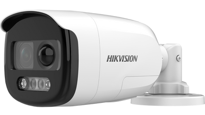Hikvision 2 MP ColorVu PIR Siren Analogue Bullet Camera DS-2CE12DFT-PIRXOF