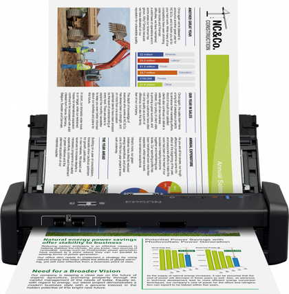 Epson DS-360W Portable Scanner with Wi-Fi & Battery