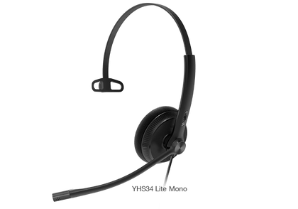 Yealink Wired Headset with QD to RJ Port Y-YHS34-Lite-Mono