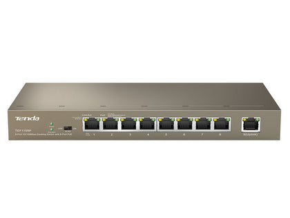 Tenda 9-Port Fast Ethernet Switch with 8-Port PoE TE-TEF1109P-8-63W