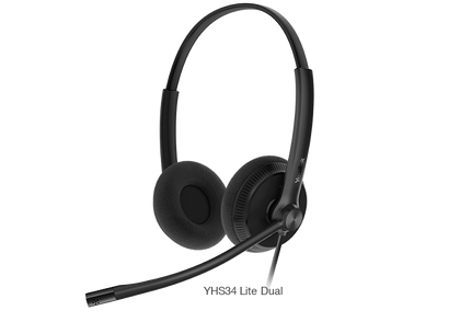 Yealink Wired Headset with QD to RJ Port Y-YHS34-Lite-Duo