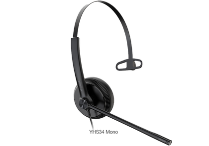 Yealink Wired Headset with QD to RJ Port Y-YHS34-Mono