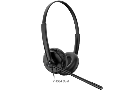 Yealink Wired Headset with QD to RJ Port Y-YHS34-Duo