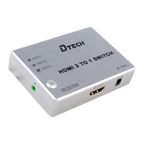 Dtech 3 in 1 out HDMI Switch DT-7018,- Avico