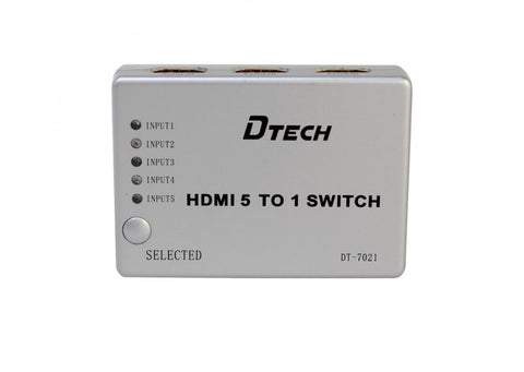 Dtech 5 to 1 HDMI Switch DT-7021,- Avico
