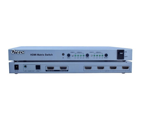 Dtech HDMI 4 X 2 Matrix Switcher DT-7029