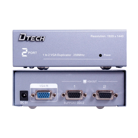 Dtech 1 TO 2 VGA SPLITTER DT-7252