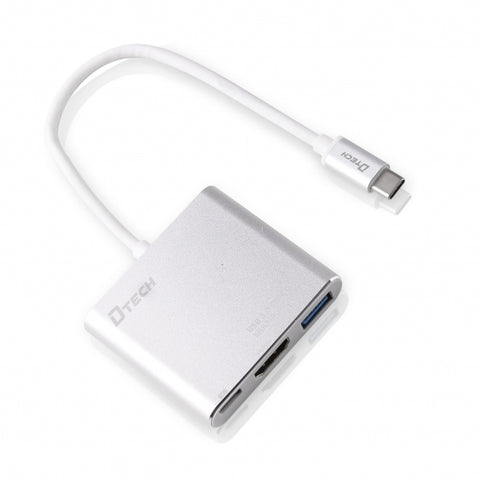 Dtech DT-T0022 Type-C to 4k HDMI+USB3.0+PD,- Avico