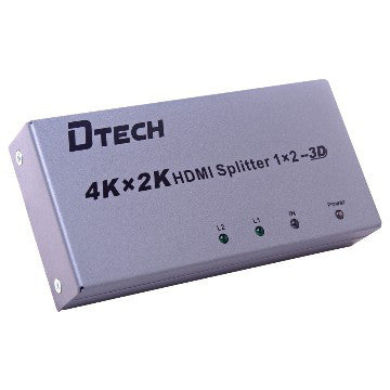 Dtech 4K 1 TO 2 HDMI SPLITTER DT-7142,- Avico