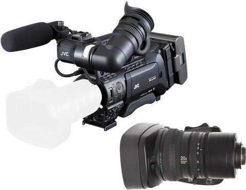 JVC GY-HM850-XT20 Full HD Camcorder with lens