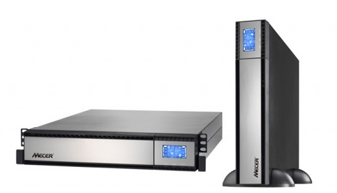 Mecer 1000VA 2U on-line Sine Wave Rackmountable UPS