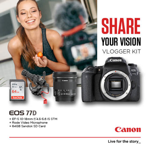 Canon EOS 77D Vlogger Kit (While stock lasts)