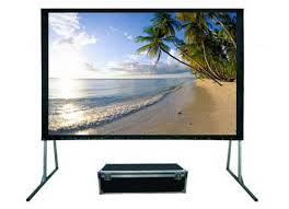 "Avico JK 250"" 508 x 351 Fast Fold Front and Rear Projection Screen, 4:3 JK-FF4 250FPRP"