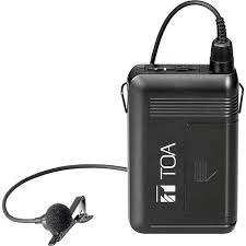 TOA WM-5320 Bodypack transmitter with lavalier microphone,- Avico