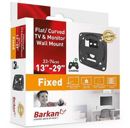 "Barkan BRAE100 Fixed wall mount 29"",- Avico"