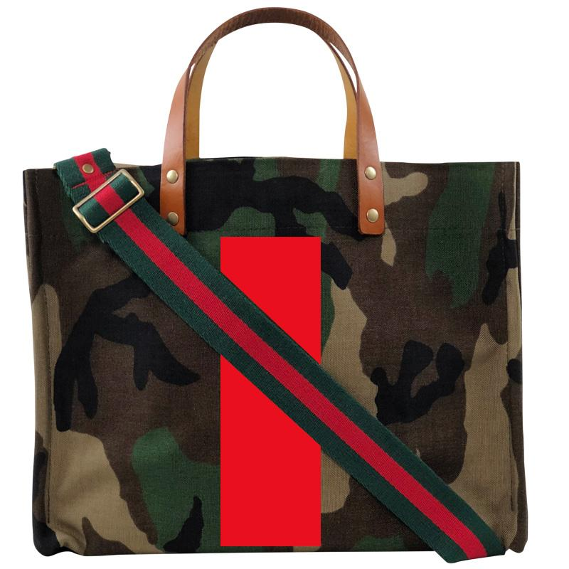 Medium Mimi - Camo - Bold Red Stripe