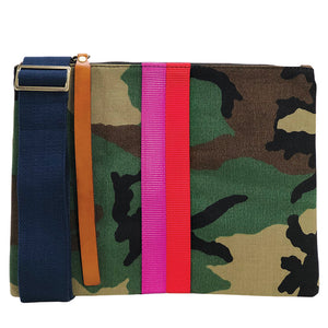 The Lee Camo-Pink and Red Web Stripe- Navy Web Strap