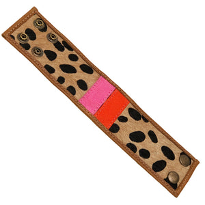 PT Cuff-Pink and Orange and Leopard- Large