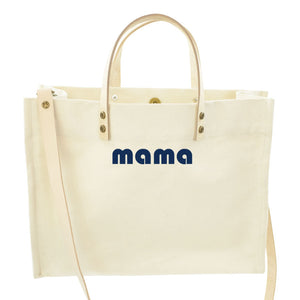 Medium Mimi-Classic Natural-MAMA Navy
