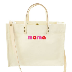 Medium Mimi-Classic Natural-MAMA Pink and Red