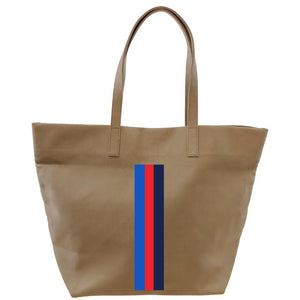 the big bag- khaki-SURFER STRIPE RED
