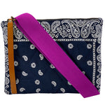 The Fluffy Lee-Navy Bandana (the perseverance)-Purple Web Strap