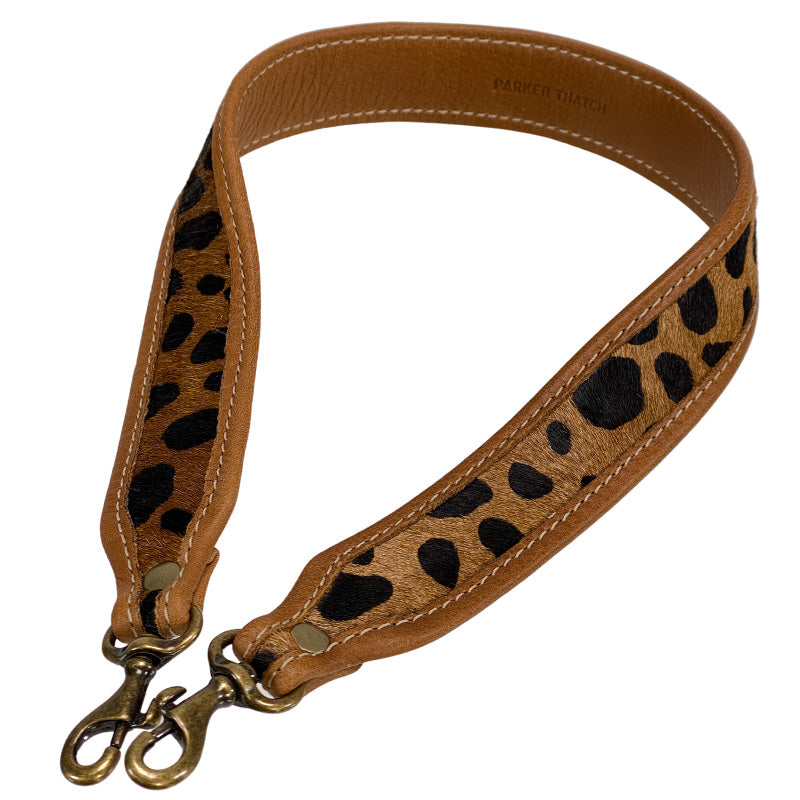 Jackie Leopard Calf Hair Pattern Over the Shoulder Strap