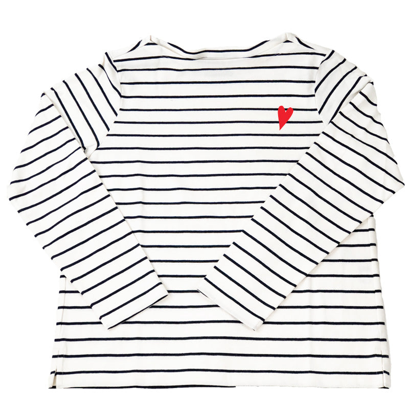Classic Striped Shirt- I LOVE YOU!