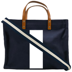Medium Mimi - Navy - Bold White